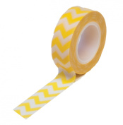 Dress My Cupcake Washi Decorative Tape for Gifts/Favours, Yellow Chevron