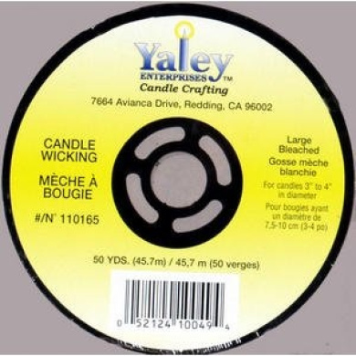 Yaley Candle Wicking Spool 50 Yards Large Bleached 110165