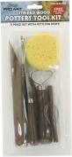 Pro Art 9-Piece Wood Pottery Tools Set, Stained Handles