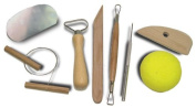 Potter's Tool Kit with 8 Essential Tools