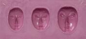 """FlexiMold Silicon Mould, """"Faces"""" Mould 2"""