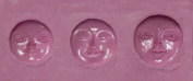 "FlexiMold Silicon Mould, ""Moonface"" Mould"
