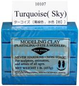 Van Aken Plastalina Modelling Clay 1 lb. bar turquoise