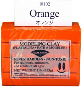 Van Aken Plastalina Modelling Clay 1 lb. bar orange