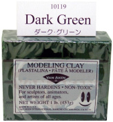 Van Aken Plastalina Modelling Clay dark green 1 lb. bar