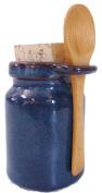 Ceramic Salt Jar - Neti Pot Accessory - Blue w/spoon