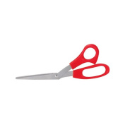 OfficeMax Economy Stainless Steel Scissors, Red, 20cm Bent
