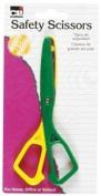 Charles Leonard Scissors - Safety - Plastic - 14cm - Assorted Colours - 1/Card, 80512
