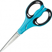 Kokuyo AiroFit Non-Stick Scissors - Wide Handle - Blue Grip