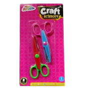 Craft Scissors - Pack of 2 - Handy quality scissors with comfortable handles