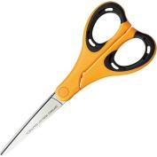 Kokuyo AiroFit Non-Stick Scissors - Slim Handle - Yellow Grip