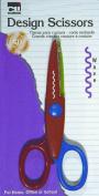 Charles Leonard Inc., Scissors, Design Cut, Wave, Assorted Colours, 1/Card