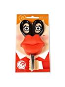 Funky Pop-Art 13cm Pvc Red Lips Scissors & Holder
