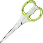 Kokuyo S & T scissors Aero fit white/green