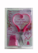 OHTO - Heart-Full Scissors - Vivid Pink W/Stand