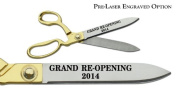 "Pre-Laser Engraved ""GRAND RE-OPENING 5120cm 27cm Gold Plated Handles Ceremonial Ribbon Cutting Scissors"