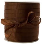 May Arts 1cm Wide Ribbon, Brown Grosgrain