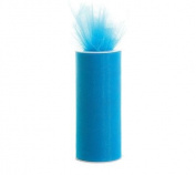 Turquoise 15cm X 75 Ft (25 Yards) Tulle 100% Nylon