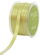 May Arts 1cm Wide Ribbon, Celery Satin