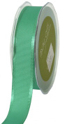 May Arts 2.5cm Wide Ribbon, Teal Grosgrain with Satin Edge