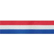 Tri-Stripe Ribbon 1.6cm Wide 50 Yards-Red, White, Blue