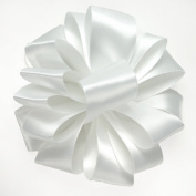 Offray Double Face Satin Craft Ribbon, 2.2cm Wide by 20-Yard Spool, White