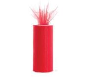 Red 15cm X 75 Ft (25 Yards) Tulle 100% Nylon