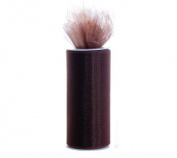 Brown 15cm X 75 Ft (25 Yards) Tulle 100% Nylon