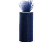 Navy Blue 15cm X 75 Ft (25 Yards) Tulle 100% Nylon