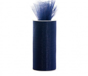 Navy Blue 15cm X 75 Ft (25 Yards) Tulle 100% Nylon
