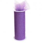 Glitter Lavendar 15cm X 30 Ft (10 Yards) Tulle 100% Nylon