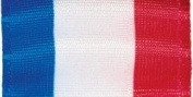 Tri-Stripe Ribbon 5.1cm - 0.6cm Wide 50 Yards-Red, White, Blue