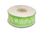 Apple Green Organza Ribbon Butterfly Design 2.2cm 25 Yards
