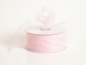 Sheer Organza Ribbon 2.5cm - 1.3cm 25 Yards Light Pink, 30 more Colours
