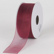 Burgundy Sheer Organza Ribbon 2.2cm 25 Yards