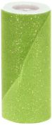 Offray Sparkle Tulle Craft Ribbon, 15cm by 25-Yard Spool, Apple Green