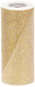 Offray Sparkle Tulle Craft Ribbon, 15cm by 25-Yard Spool, Gold