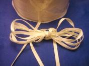 0.3cm Double Face Satin Ribbon 100 yards - Ivory