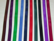 Solid Colour Satin Ribbon Asst. #3 - 10 Colours 1cm X 5 Yard Each Total 50 Yds Per Package
