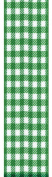 Offray Neo Gingham Cheque Craft Ribbon, 3.8cm Wide by 10-Yard Spool, Emerald