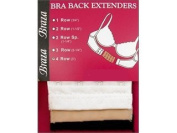 Braza Bra Back Extenders - Assorted Colours Beige, White & Black Select Size