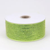 Apple Green Metallic Deco Mesh Ribbons 6.4cm x 25 yards