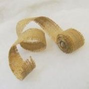 3 Rolls - 2.5cm x 180cm Burlap Frayed Ribbon - Blank for Stamp or Stencil