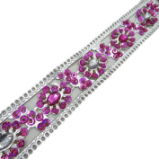 Sequins Silver Leather Trim Apparel Women Sari Border Floral Lace By 1 Yard