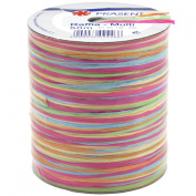 Morex Ribbon Rayon Raffia Fabric Ribbon Spool, 55-Yard, Multi Colour