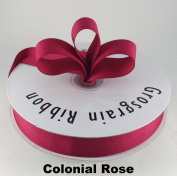 2.2cm Colonial Rose Grosgrain Ribbon 50 Yards Solid Colour.