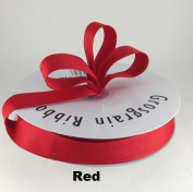 2.2cm Red Grosgrain Ribbon 50 Yards Solid Colour.