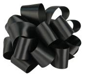 Offray Single Face Satin Craft Ribbon, 3.8cm by 10-Yard Spool, Black