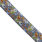 "5 yards 1"" WIDE 25mm Flowers Woven Jacquard Ribbon Trim Tape"
