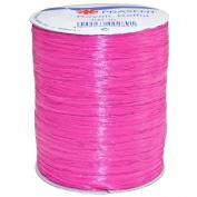 Morex Ribbon Rayon Raffia Fabric Ribbon Spool, 100-Yard, Cerise
